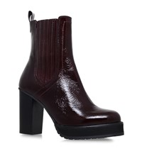 Kg By Kurt Geiger Storm Ankle Boots Female Red