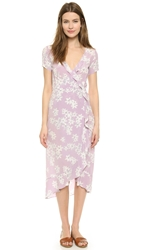 Myne Petal Wrap Dress Sweet Pea