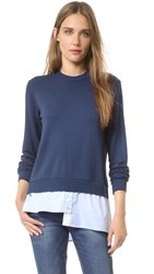 Clu Sweatshirt With Asymmetrical Shirttail Navy
