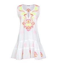 Juliet Dunn Drop Waist Embroidered Dress Female Multi