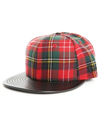 New Era 59 Fifty Red Tartan Wool Cap