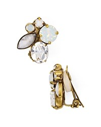 Sorrelli Crystal Clip On Earrings Antique Gold