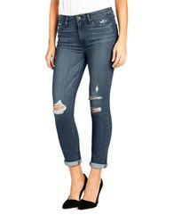 Paige Hoxton Rolled Skinny Cropped Jeans Valera