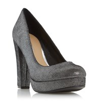 Head Over Heels Adele Platform High Heel Court Shoes Pewter