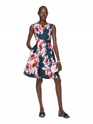 Kate Spade Hazy Floral Fit And Flare Dress