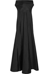 The Row Gen Draped Silk Gown Black