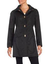 Jones New York Petite A Line Turn Lock Jacket Black