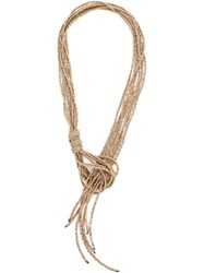 Brunello Cucinelli Multiple Rows Of Bead Necklace Metallic
