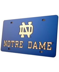 Stockdale Notre Dame Fighting Irish License Plate Navy