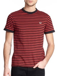 Fred Perry Slub Stripe Ringer Tee Red Stripe