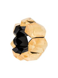 Monies Geometric Oversized Bracelet Yellow Orange