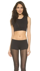 Solow Mesh Cutout Muscle Tank Black