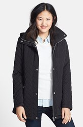 Women's Calvin Klein Hooded Quilted Jacket Black