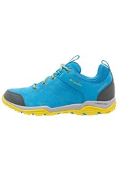 Columbia Fire Venture Waterproof Walking Shoes Oxide Blue Ginkgo