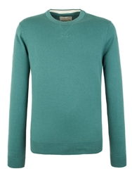 Plain Crew Neck Pull Over Jumpers Jade