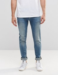 Asos Skinny Jeans In 12.5Oz In Light Blue Wash Light Blue
