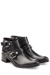 Mcq By Alexander Mcqueen Leather Ridley Harness Ankle Boots Black