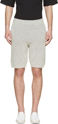 Maison Martin Margiela Grey Textured Knit Shorts