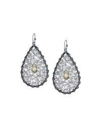 Nakamol Smoky Crystal Teardrop Earrings No Color