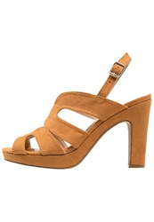 Anna Field High Heeled Sandals Tan Cognac