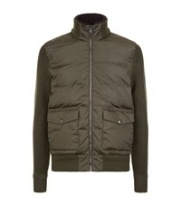 Ralph Lauren Knitted Sleeve Quilted Jacket Male Khaki
