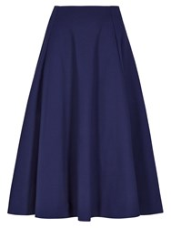 Winser London Full Circle Midi Skirt Blue