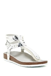 Australia Luxe Collective Chica Genuine Shearling Lined Sandal Metallic