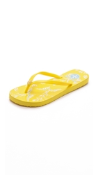 Tory Burch Printed Flip Flops Sun Ray Sum Cape Floral