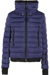 Moncler Grenoble Vonne Hooded Quilted Down Jacket Navy