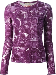Jean Paul Gaultier Vintage 'Babies' Print Top Pink And Purple