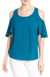 Women's Gibson Cold Shoulder Flutter Sleeve Top
