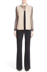Women's Max Mara 'Ussel' Lambskin Leather Vest