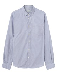 Jigsaw Mouline Check Slim Shirt Blue