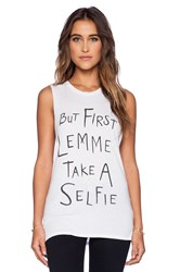 Local Celebrity Selfie Muscle Tank White