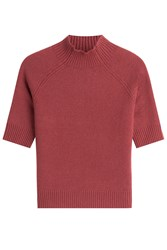 Theory Cashmere Top With Short Sleeves Red
