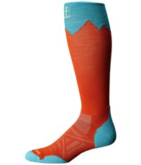 Smartwool Phd Outdoor Mountaineer Bright Orange Men's Knee High Socks Shoes