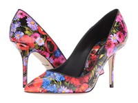 Dolce And Gabbana Printed Leather Black Floral
