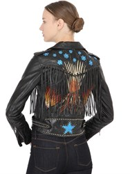 Valentino Volcano Fringed Leather Biker Jacket