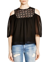 Lucy Paris Crochet Boho Top Black