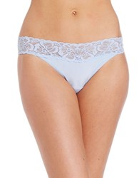Jockey No Panty Line Promise Tactel Lace Thong Blue