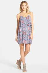 Floral Paisley Print Popover Tank Dress Nordstrom Online Exclusive Red Blue Print