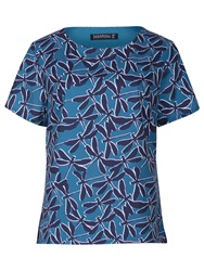 Sugarhill Boutique Brittany Dragonfly Print Top Teal