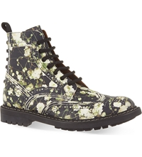 Givenchy Floral Show Leather Boots Black Comb