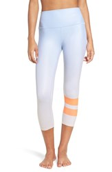 Alo Yoga Women's 'Airbrush' High Waist Capris Gradient Sky