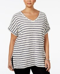 Styleandco. Style Co. Plus Size Dolman Sleeve Striped Top Only At Macy's Ink