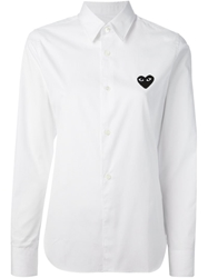 Comme Des Garcons Play Logo Patch Shirt White