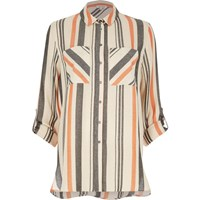River Island Womens Orange Stripe Shirt