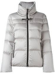 Fay Funnel Neck Padded Jacket Nude And Neutrals