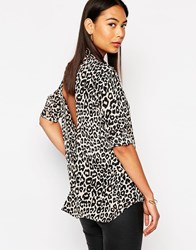 Finders Keepers Anywhere But Here Long Sleeve Shirt Smallanimalprint