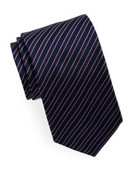Hugo Striped Silk Tie Dark Purple